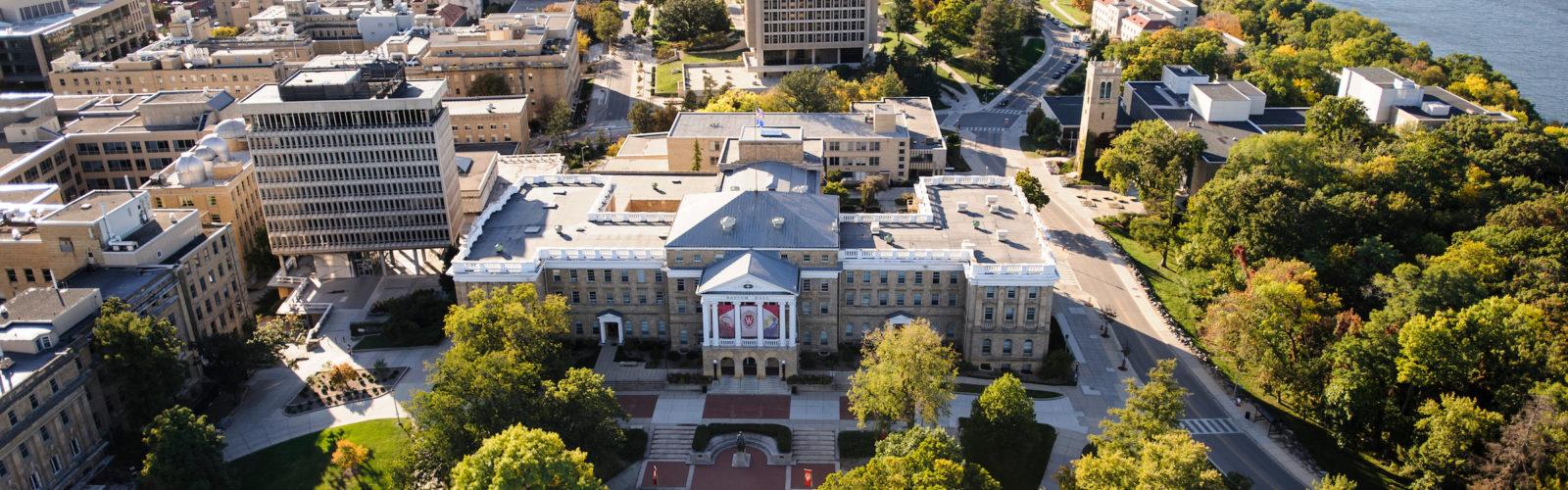 Aerial view of UW-Madison campus